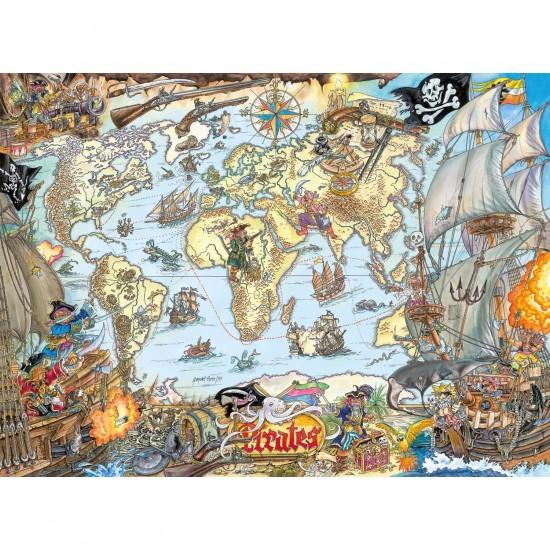 Puzzle 200 pièces : Carte de pirates - Ravensburger-12802