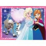 Puzzle 200 pièces : La Reine des Neiges (Frozen) : Amour de soeurs