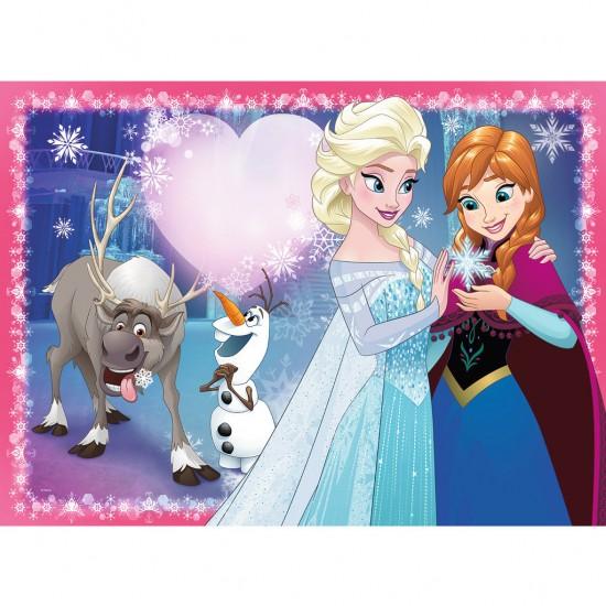 Puzzle 200 pièces : La Reine des Neiges (Frozen) : Amour de soeurs - Ravensburger-12826