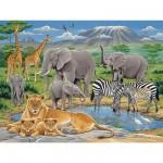 Puzzle 200 pièces - Animaux d'Afrique