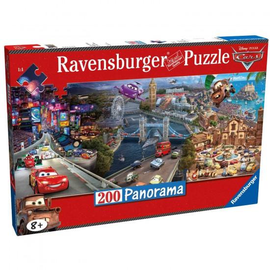 Puzzle 200 pièces panoramique : Cars 2 - Ravensburger-12645