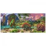 Puzzle 200 pièces panoramique : Les dinosaures