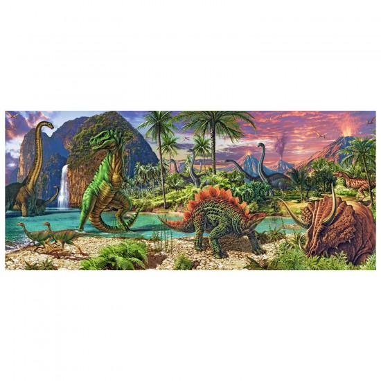 Puzzle 200 pièces panoramique : Les dinosaures - Ravensburger-12747