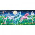 Puzzle 200 pièces panoramique - Les licornes