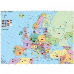 Puzzle 200 pièces XXL - Carte de l'Europe en allemand
