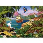 Puzzle 200 pièces XXL - L'île aux trésors