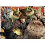 Puzzle 200 pièces XXL : Dragons
