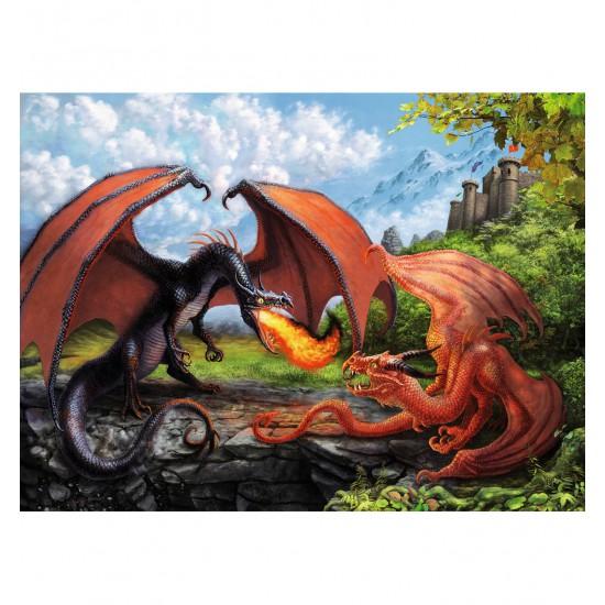 Puzzle 200 pièces XXL : Duel de dragons - Ravensburger-12708