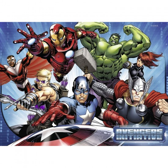 Puzzle 200 pièces XXL : Equipe des Avengers - Ravensburger-12814