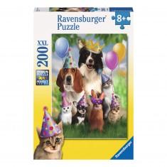 Puzzle 200 pièces XXL : Les animaux en fête