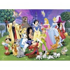 Puzzle 200 pièces XXL : Les grands personnages Disney