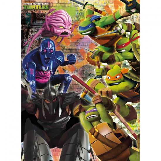 Puzzle 200 pièces XXL : Les tortues ninja - Ravensburger-12646
