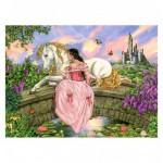 Puzzle 200 pièces XXL : Princesse sur le pont