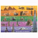 Puzzle 200 pièces XXL : Tour du monde des monuments