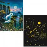 Puzzle 200 pièces XXL phosphorescent - Star Line : Les licornes