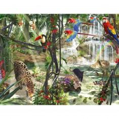 Puzzle 2000 pièces : Animaux dans la jungle