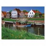 Puzzle 2000 pièces : Au bord du canal, Greetsiel