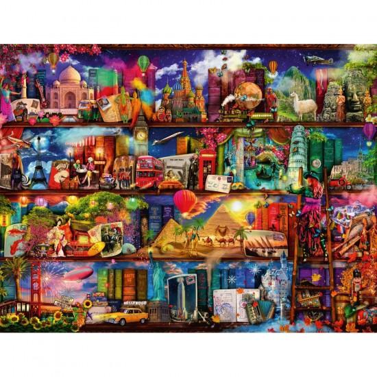 Puzzle 2000 pièces : Le monde des livres - Ravensburger-16685