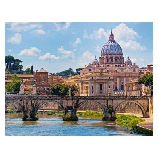 Puzzle 2000 pièces : Le Pont des Anges, Rome - Ravensburger-16686
