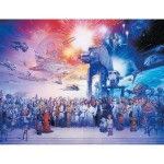 Puzzle 2000 pièces : L'univers de la saga Star Wars