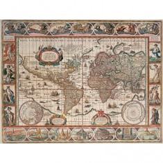 Puzzle 2000 pièces - Mappemonde