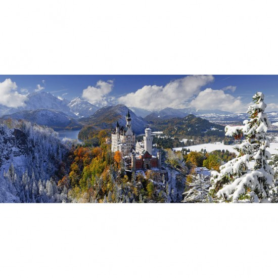 Puzzle 2000 pièces panoramique : Château de Neuschwanstein - Ravensburger-16691