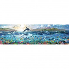 Puzzle 2000 pièces panoramique : La vie sous l'océan