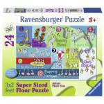 Puzzle 24 pièces géant : Animaux de 1 à 10