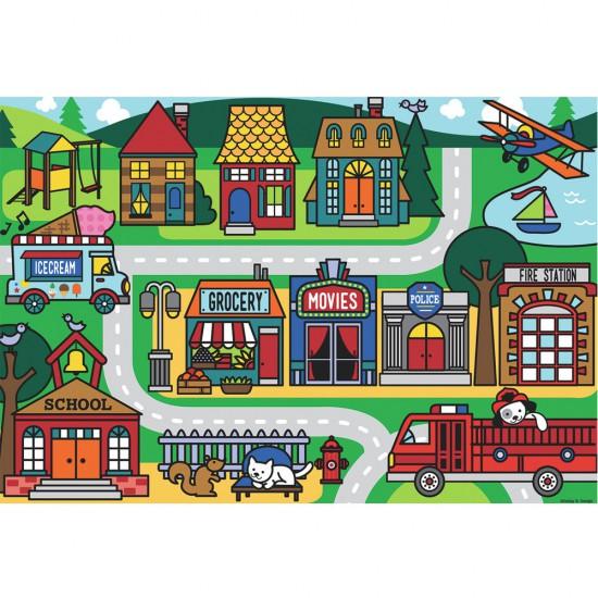 Puzzle 24 pièces géant : Les rues de la ville - Ravensburger-05398