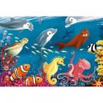Puzzle 24 pièces géant - Vie sous marine
