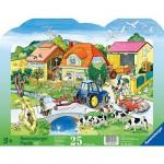 Puzzle 25 pièces - La vie à la ferme
