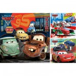 Puzzle 3 x 49 pièces - Cars 2 : Course autour du monde