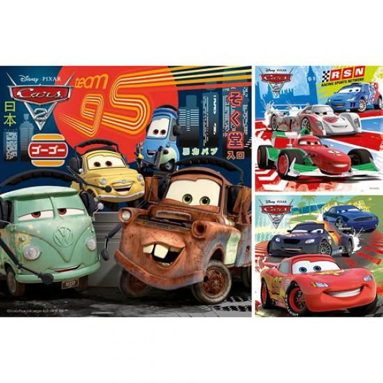 Puzzle 3 x 49 pièces - Cars 2 : Course autour du monde - Ravensburger-09281