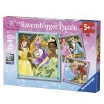 Puzzle 3 x 49 pièces : Charmantes Princesses Disney
