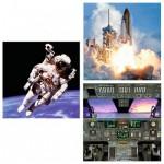 Puzzle 3 x 49 pièces : Dans l'espace
