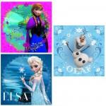 Puzzle 3 x 49 pièces :  La Reine des Neiges (Frozen)