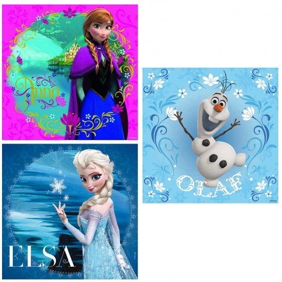 Puzzle 3 x 49 pièces :  La Reine des Neiges (Frozen) - Ravensburger-09269