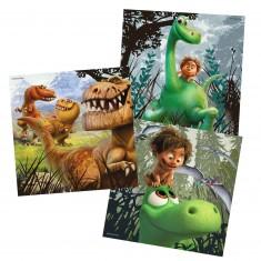 Puzzle 3 x 49 pièces : le voyage d'Arlo : Arlo, le gentil dinosaure