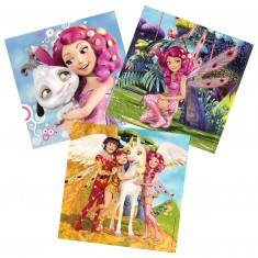 Puzzle 3 x 49 pièces : Les aventures de Mia