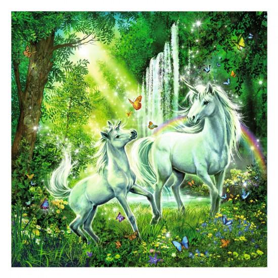 Puzzle 3 x 49 pièces : Les licornes - Ravensburger-09291