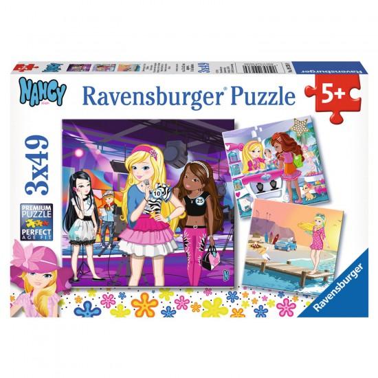 Puzzle 3 x 49 pièces : Nancy : Sortie entre filles - Ravensburger-09236