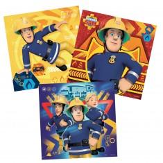 Puzzle 3 x 49 pièces : Sam le pompier : En danger, appelez Sam
