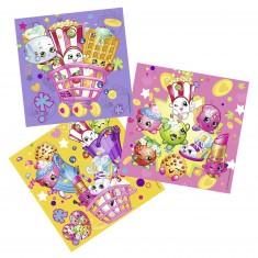 Puzzle 3 x 49 pièces : Shopkins et Cie