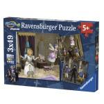 Puzzle 3 x 49 pièces : Super 4 Mariage Princier Playmobil