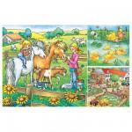 Puzzle 3 x 49 pièces - Animaux de la ferme