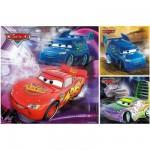 Puzzle 3 x 49 pièces - Cars : Sur la piste de course