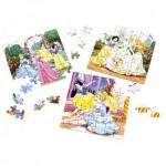 Puzzle 3 x 49 pièces - Disney Princesses
