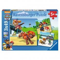 Puzzle 3 x 49 pièces : Equipe 4 pattes Pat Patrouille (Paw Patrol)