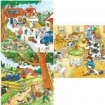 Puzzle 3 x 49 pièces - La ferme : Tous au travail