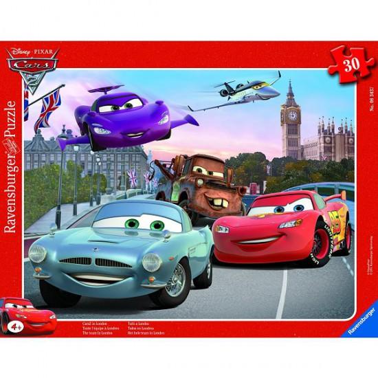 Puzzle cadre - 30 pièces - Cars 2 : Toute l'équipe à Londres - Ravensburger-06343